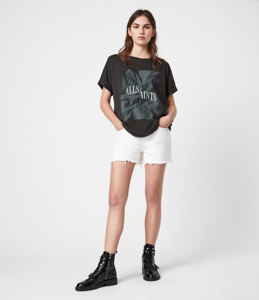 Damen Brecon Imogen Boy T-Shirt (washed_black) - Image 1