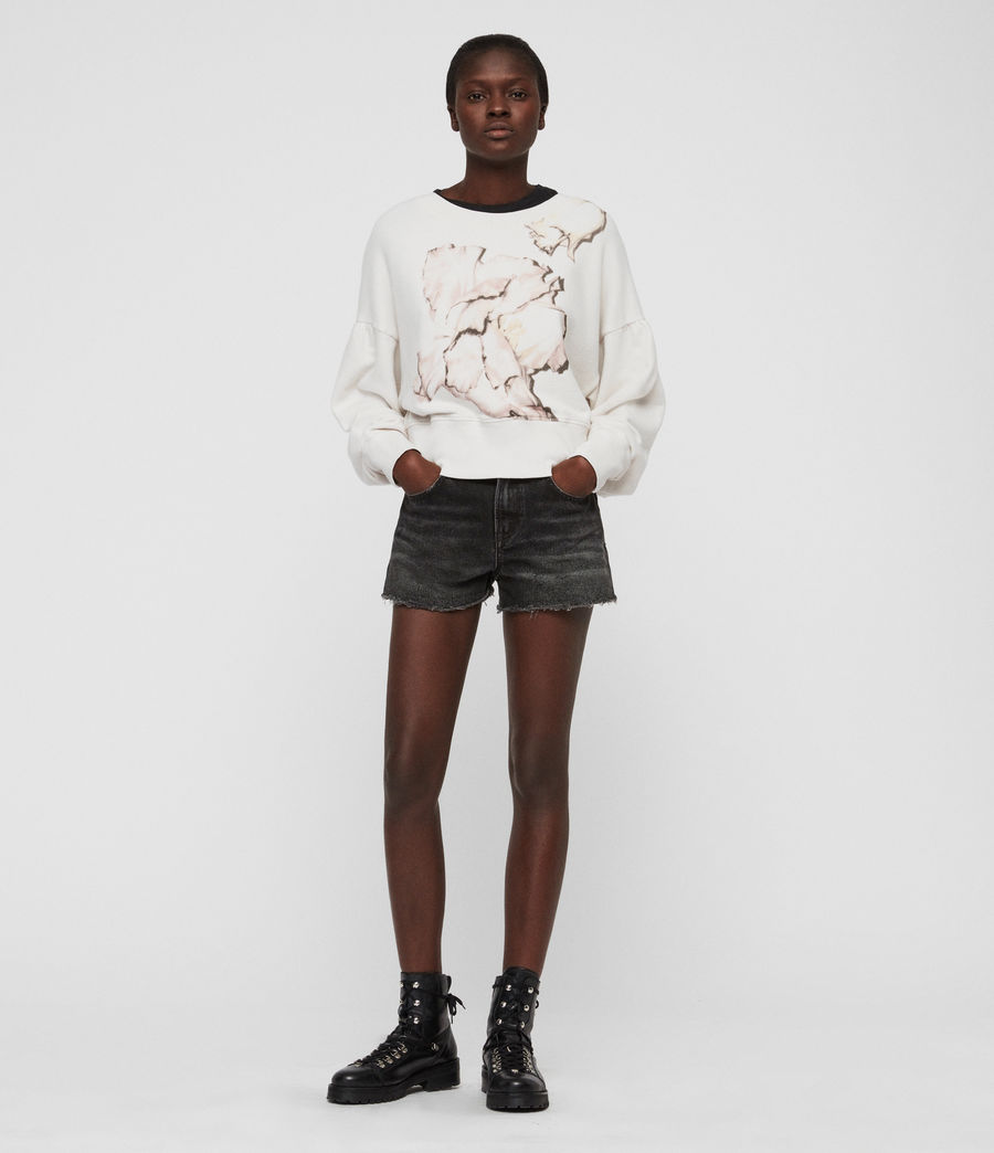 Womens Linel Storn Cropped Sweatshirt (ivory_white) - Image 1