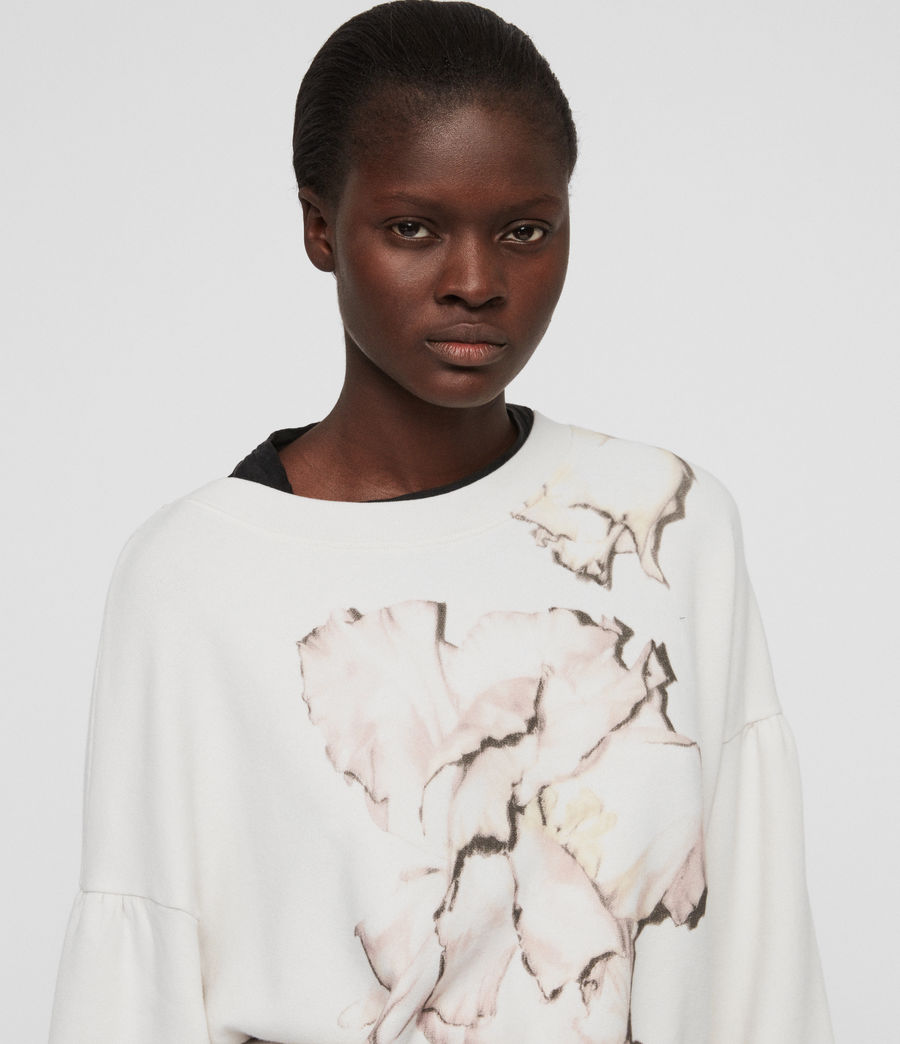 Womens Linel Storn Cropped Sweatshirt (ivory_white) - Image 3