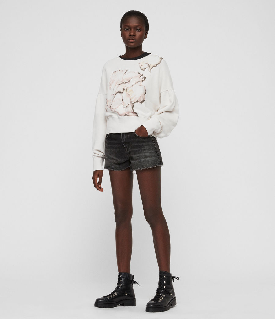 Womens Linel Storn Cropped Sweatshirt (ivory_white) - Image 4
