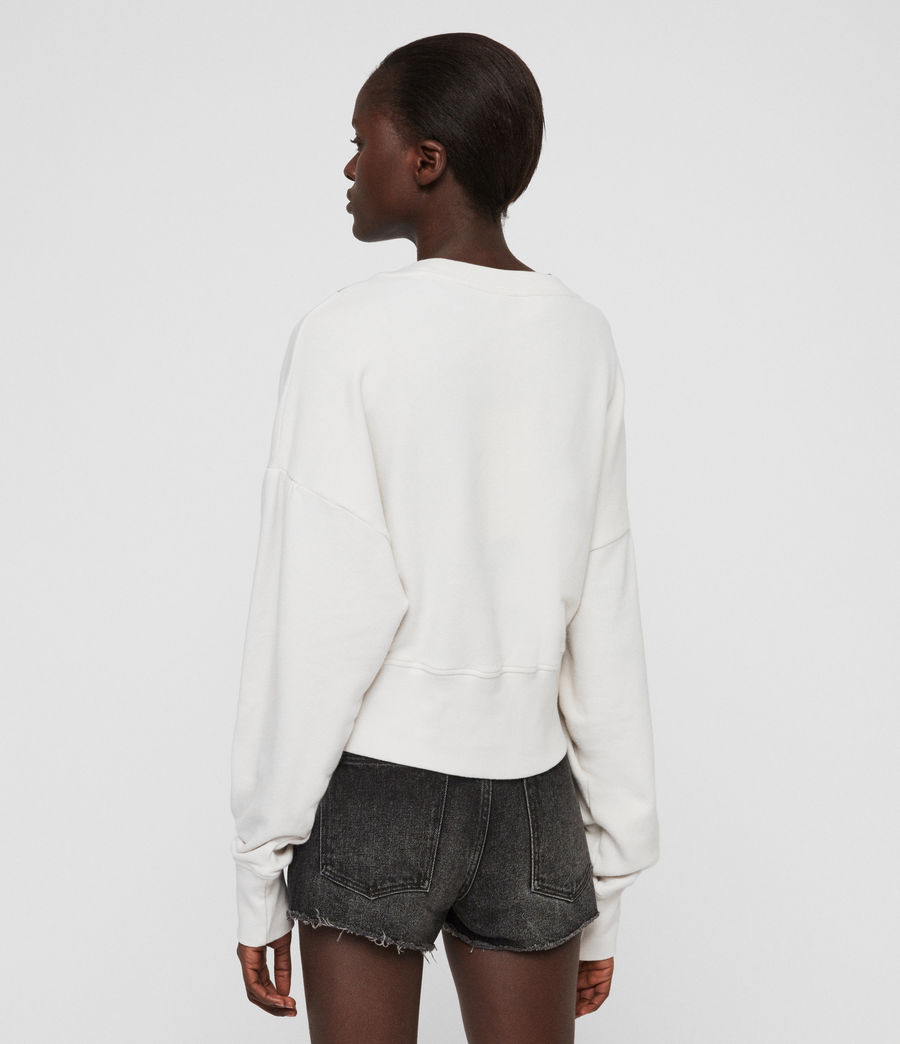 Womens Linel Storn Cropped Sweatshirt (ivory_white) - Image 6