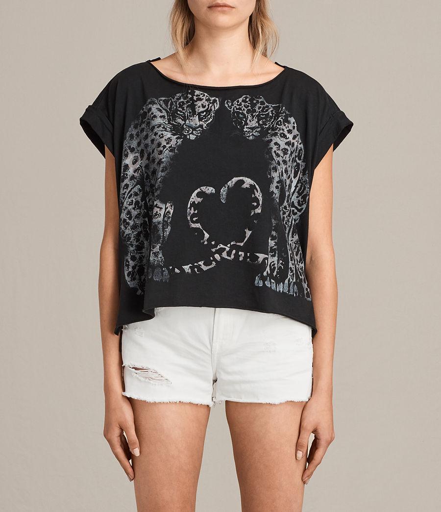 Womens Benin Pina T-Shirt (fadeout_black) - Image 1