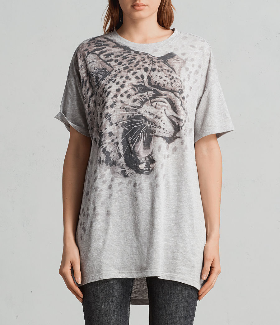 Women's Sabre Cori T-Shirt (grey_marl) - Image 1