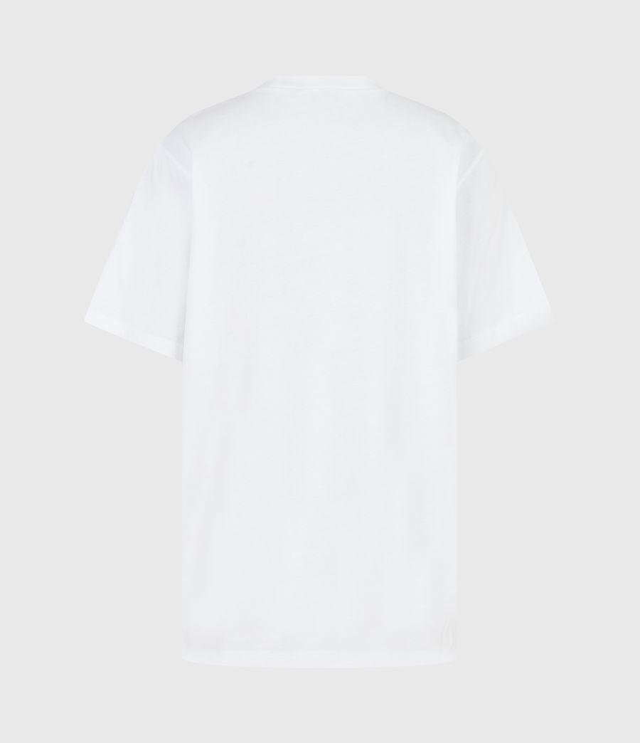 Women's Skull Boyfriend T-Shirt (optic_white) - Image 3