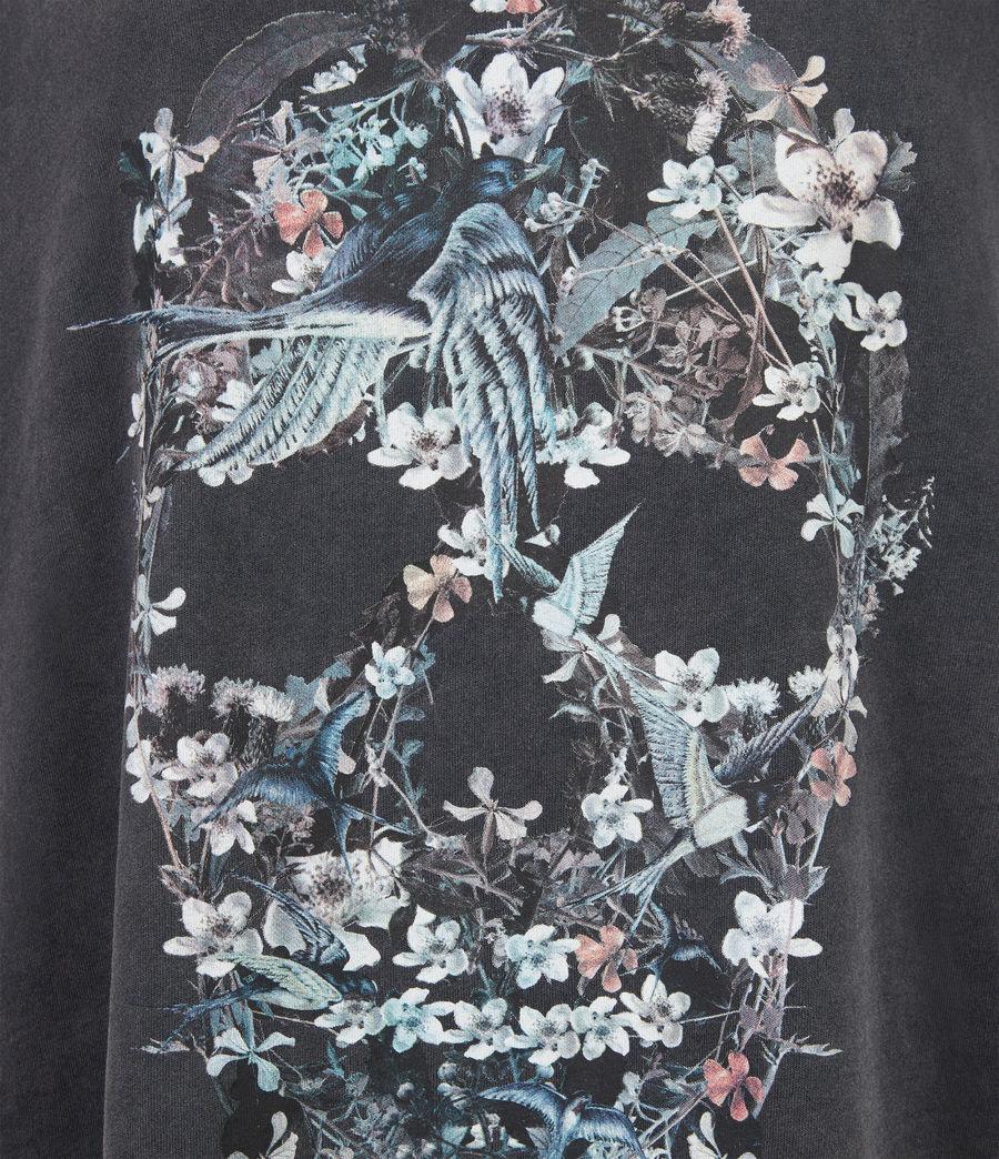 Women's Skull T-Shirt Dress (washed_black) - Image 5