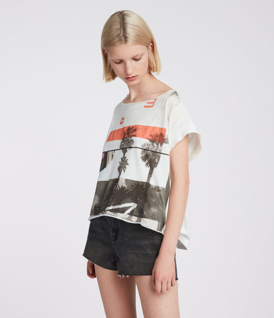 Women's Bay Pina Tee (chalk_white) - Image 3