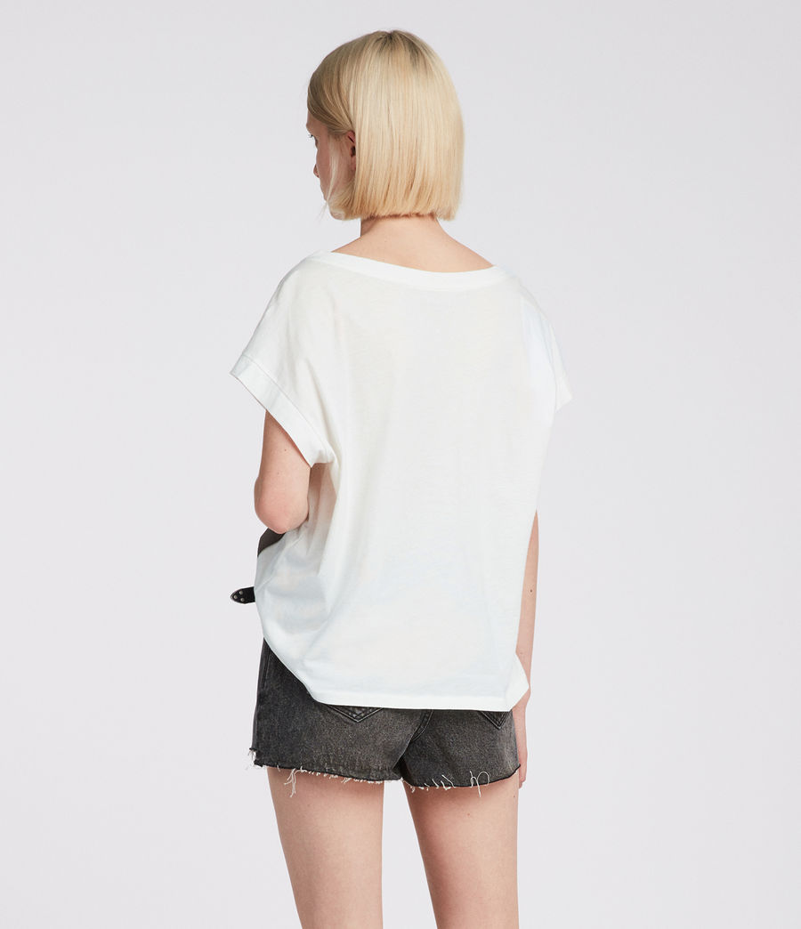 Women's Bay Pina Tee (chalk_white) - Image 4
