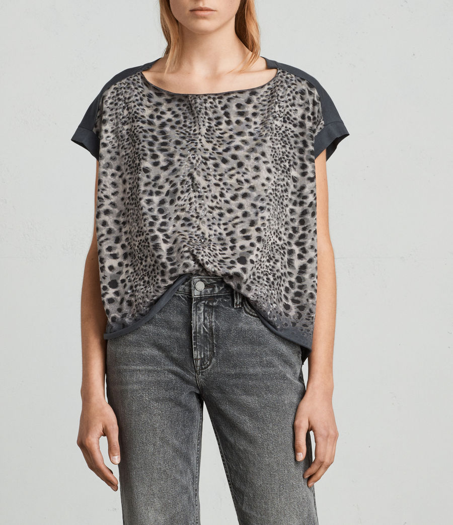 Womens Leor Pina Tee (washed_black) - Image 1