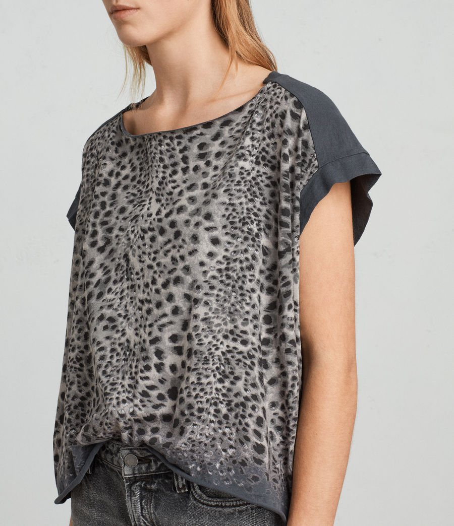 Womens Leor Pina Tee (washed_black) - Image 2
