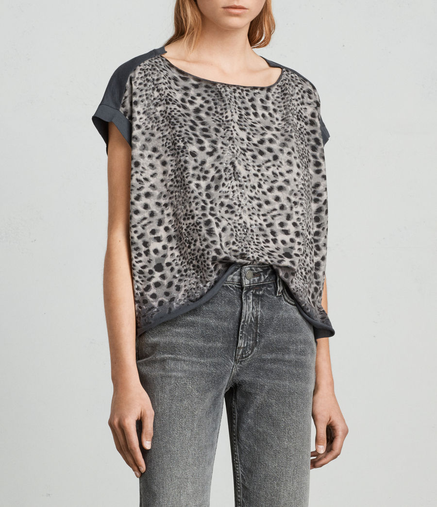Womens Leor Pina Tee (washed_black) - Image 3