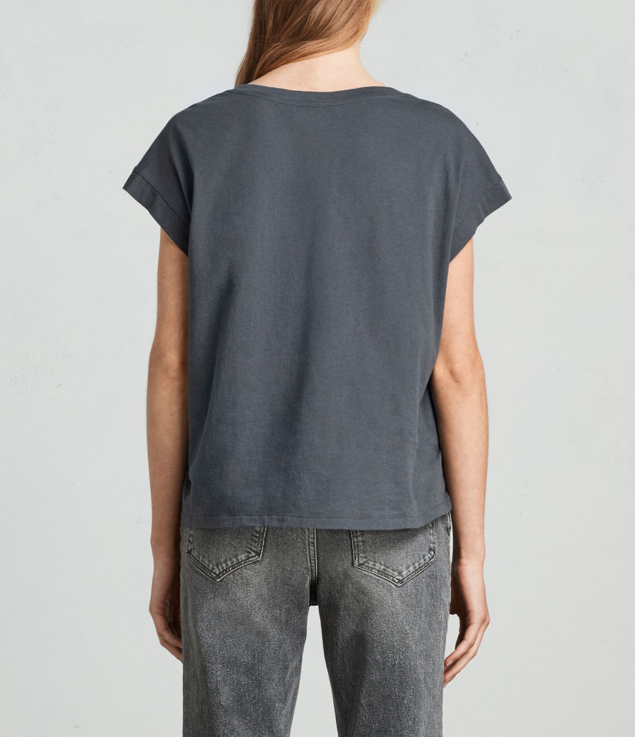 Womens Leor Pina Tee (washed_black) - Image 4