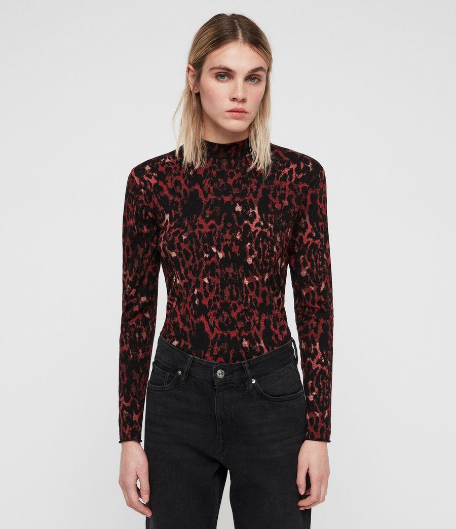 Women's Leopard Kiara Top (black) - Image 3