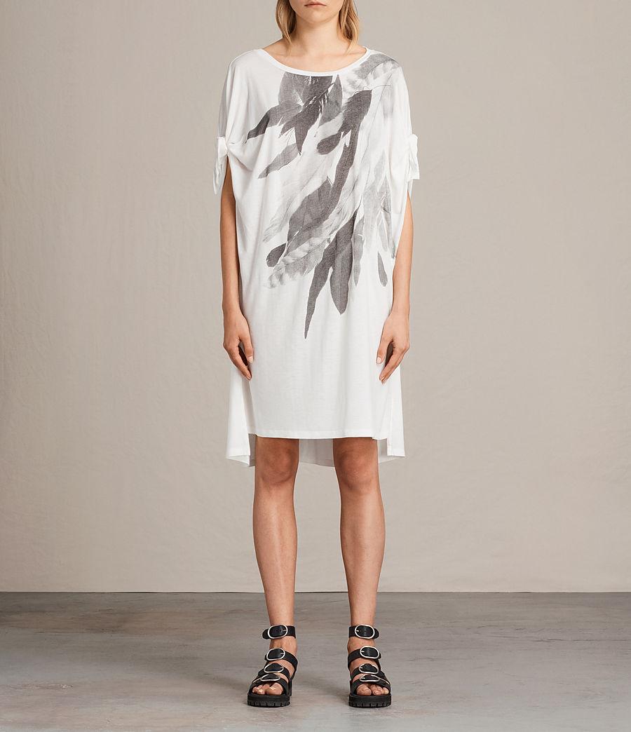 Femmes Robe t-shirt Wing Catkin (chalk_white) - Image 1