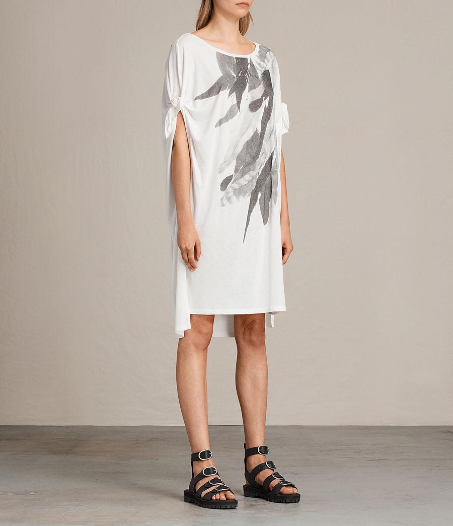 Femmes Robe t-shirt Wing Catkin (chalk_white) - Image 4