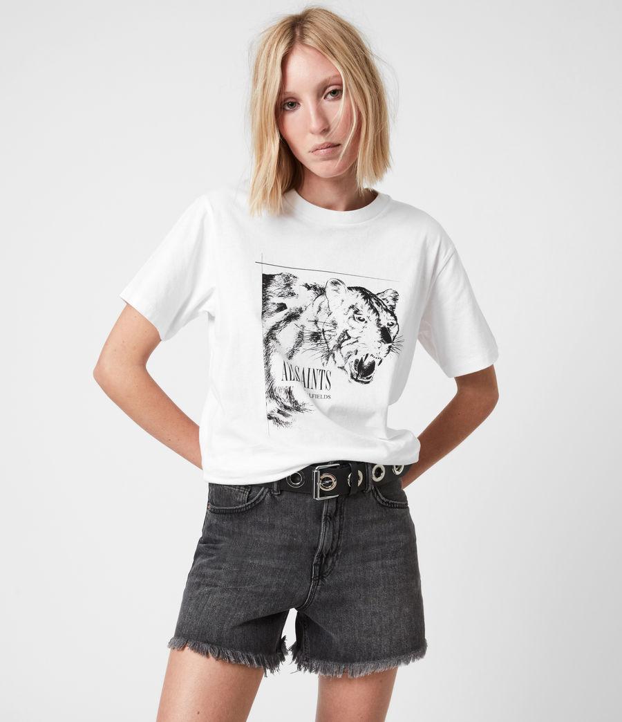 Women's Panthera Boyfriend T-Shirt (optic_white) - Image 1