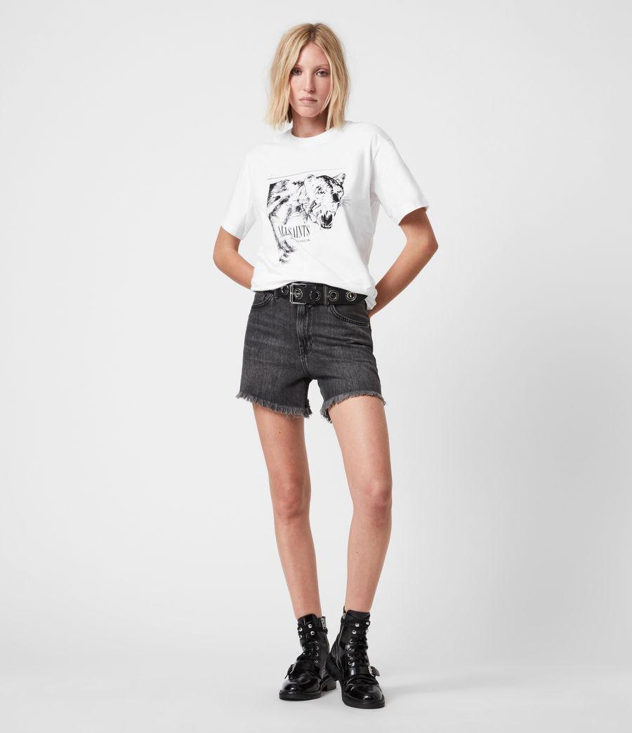 Women's Panthera Boyfriend T-Shirt (optic_white) - Image 4