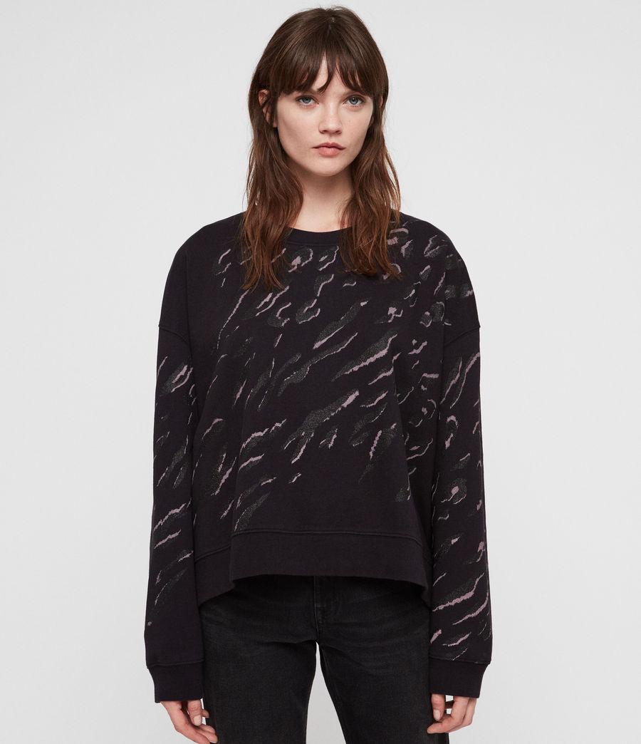 Women's Aslan Lo Sweatshirt (petrol_black) - Image 1