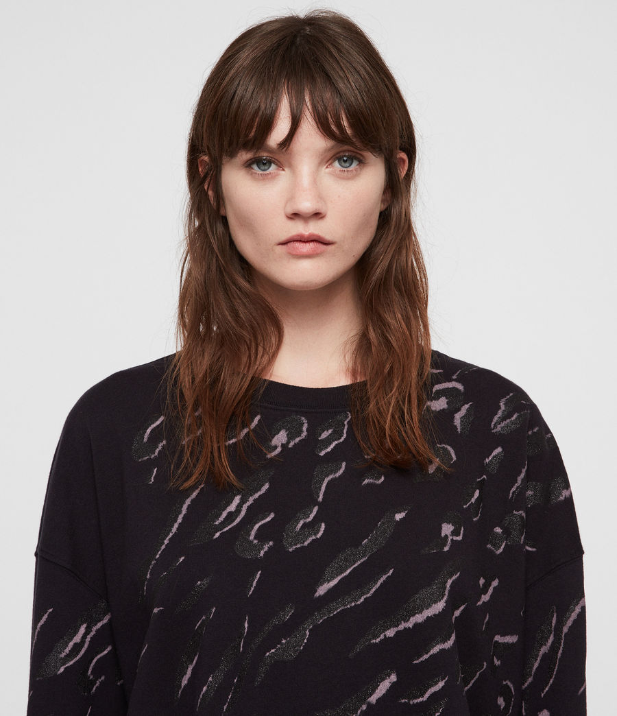 Women's Aslan Lo Sweatshirt (petrol_black) - Image 2