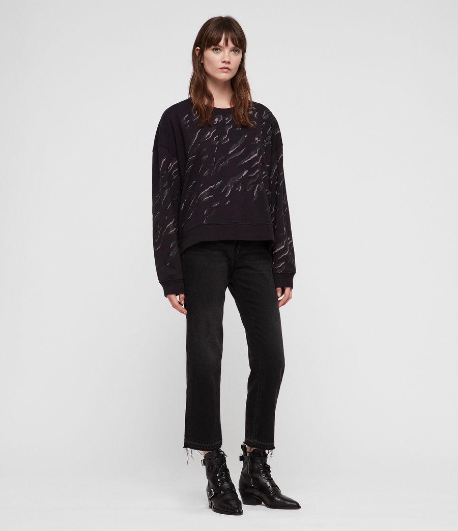 Women's Aslan Lo Sweatshirt (petrol_black) - Image 3