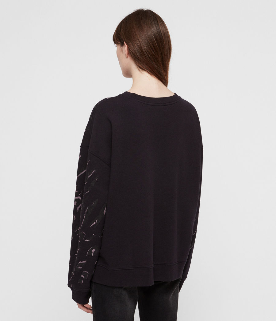 Womens Aslan Lo Sweatshirt (petrol_black) - Image 4