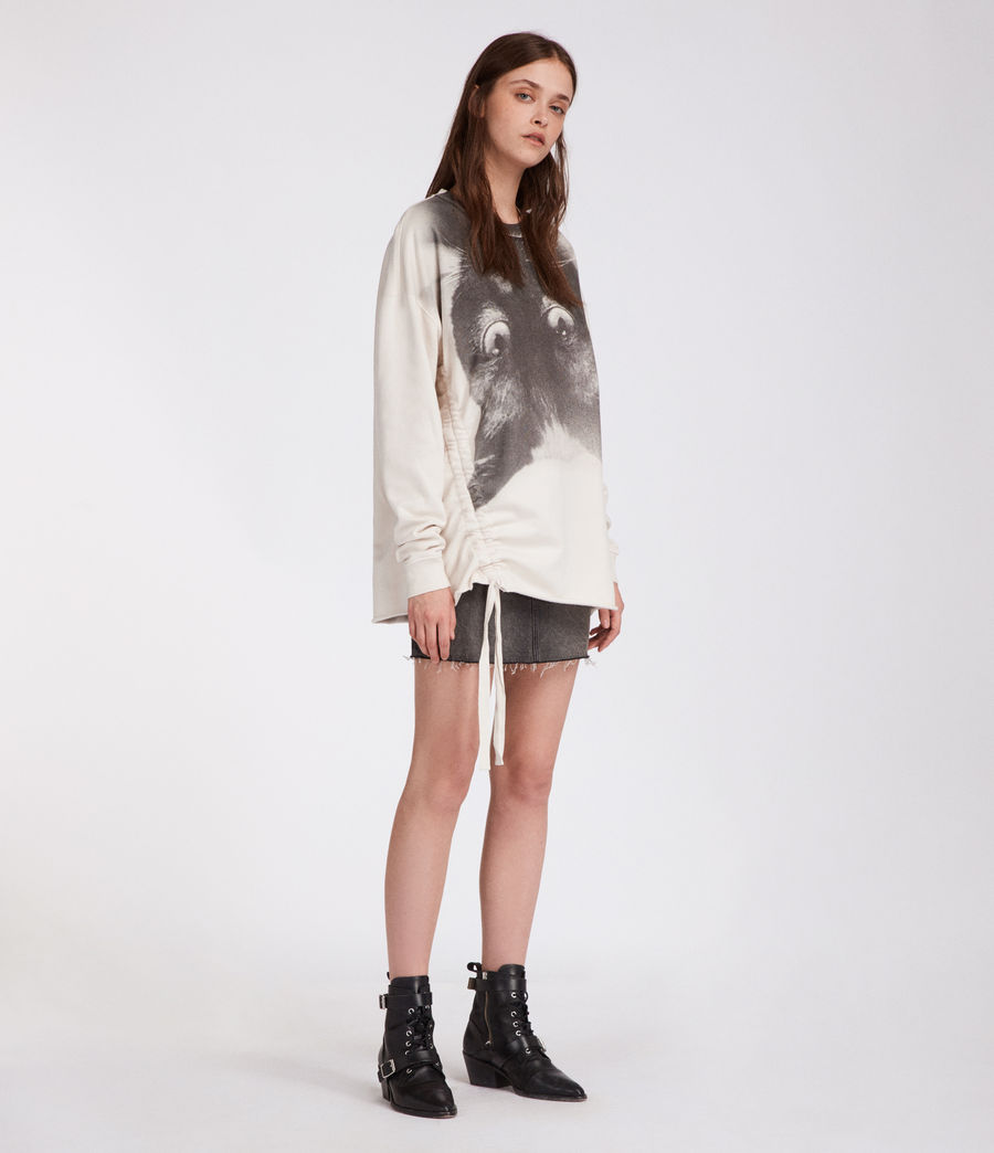 Women's Kit Able Sweatshirt (ivory_white) - Image 1