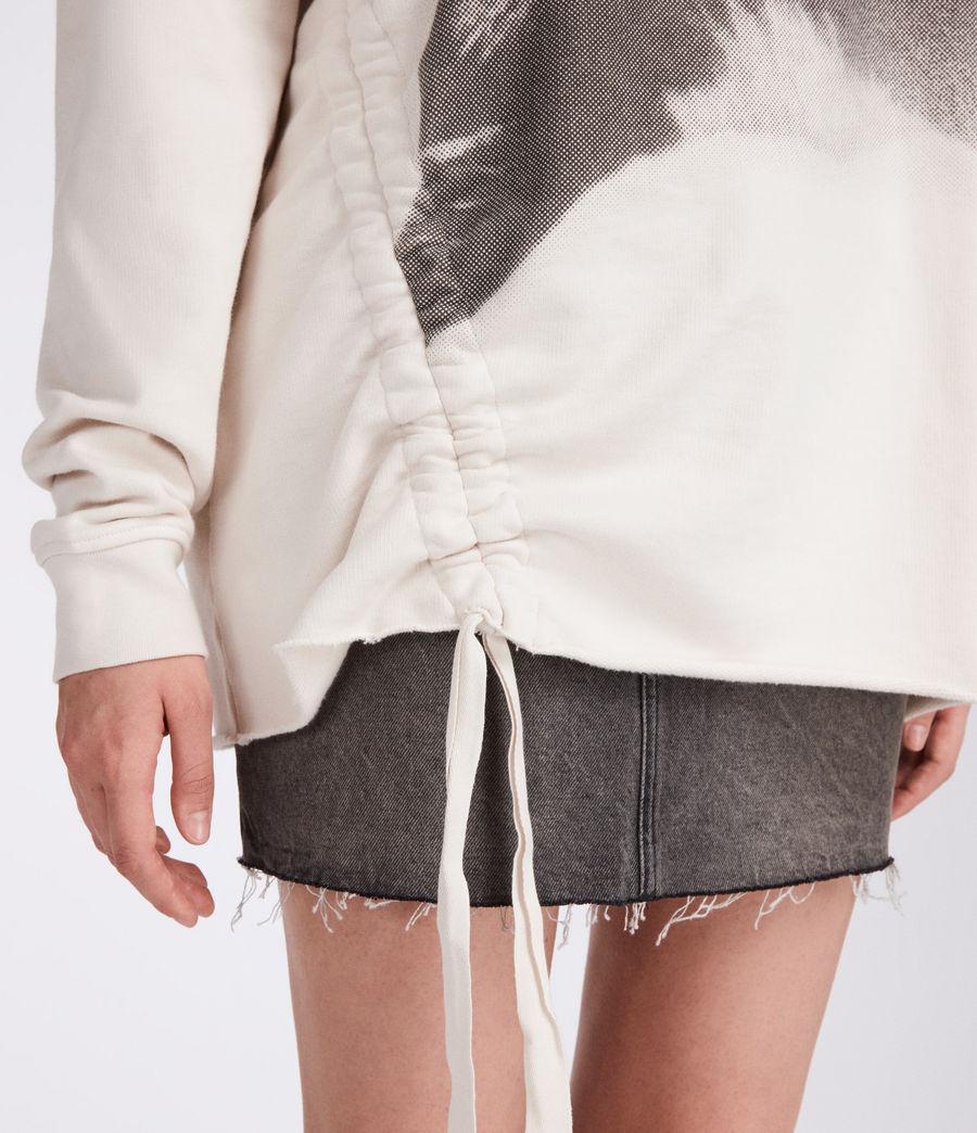 Women's Kit Able Sweatshirt (ivory_white) - Image 2