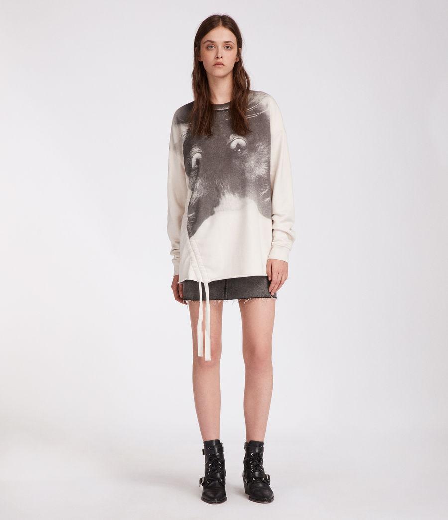 Women's Kit Able Sweatshirt (ivory_white) - Image 4