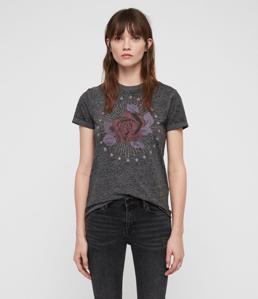 Mujer Eden Imogen T-Shirt (ash_black) - Image 1