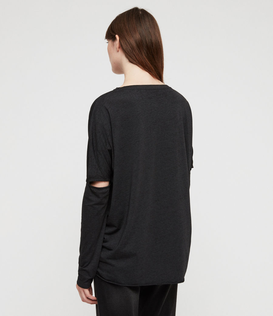Women's Rhosyn Wave T-Shirt (dark_night_blue) - Image 5