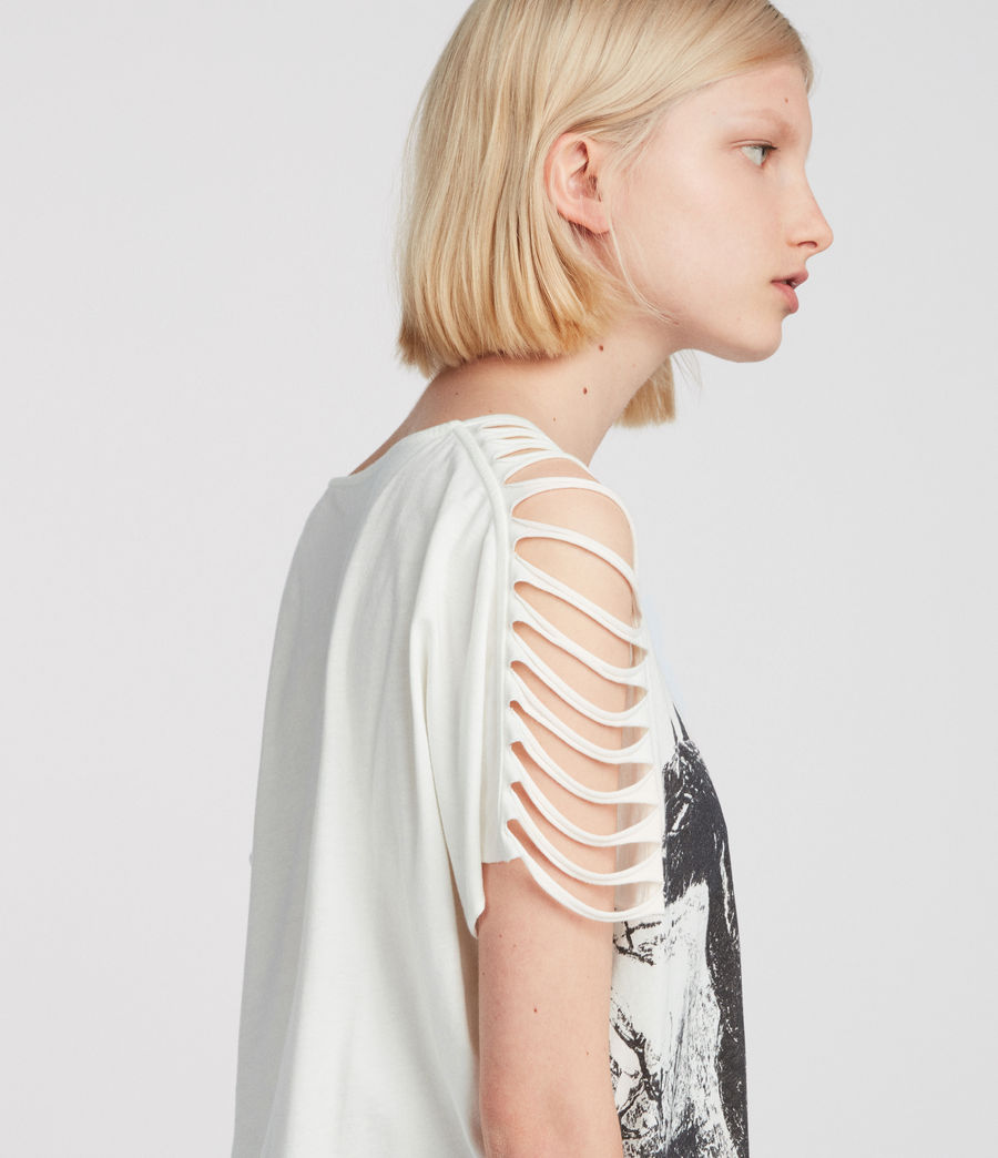 Women's Riders Slash Shoulder Tee (chalk_white) - Image 2