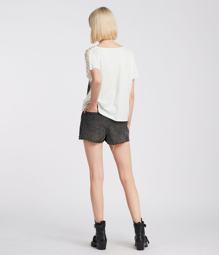 Women's Riders Slash Shoulder Tee (chalk_white) - Image 5
