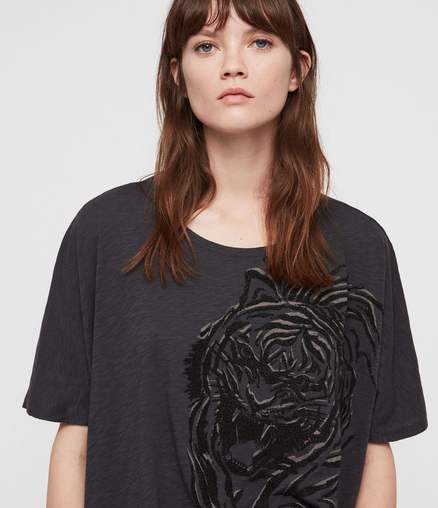 Women's Lyonis Dreams T-Shirt (washed_black) - Image 2
