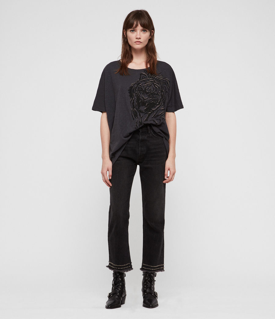 Women's Lyonis Dreams T-Shirt (washed_black) - Image 3