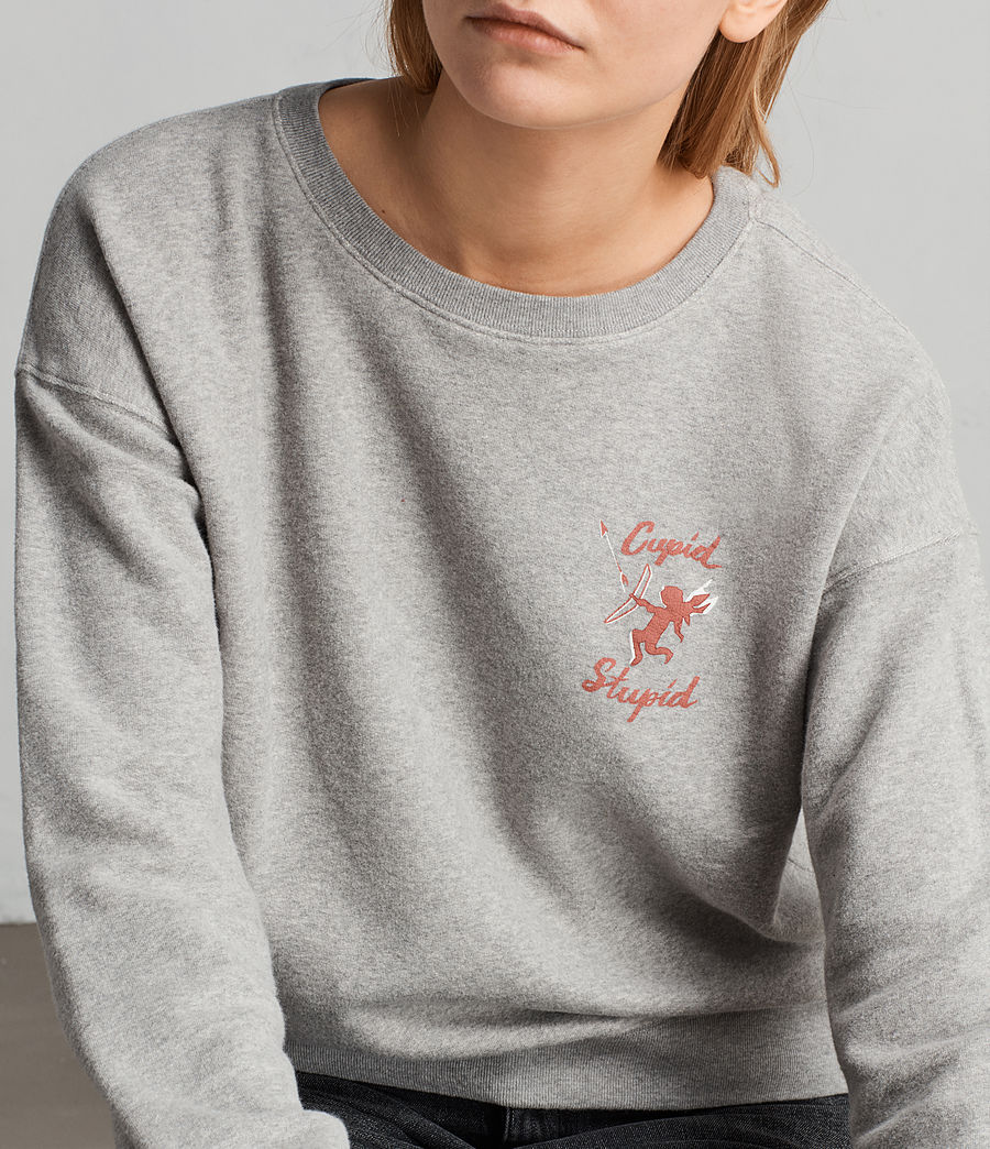 Women's Cupid Laurel Sweatshirt (grey_marl) - Image 4