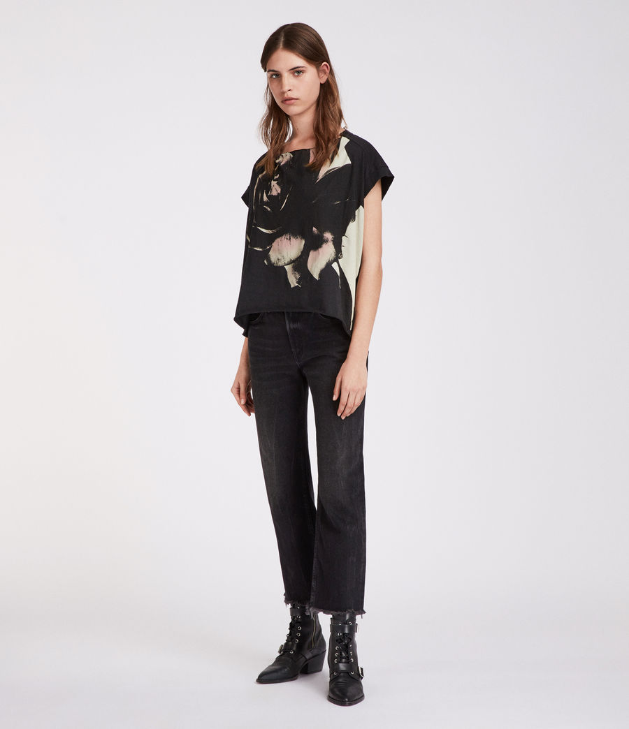 Damen Rosalita Pina T-Shirt (black) - Image 1