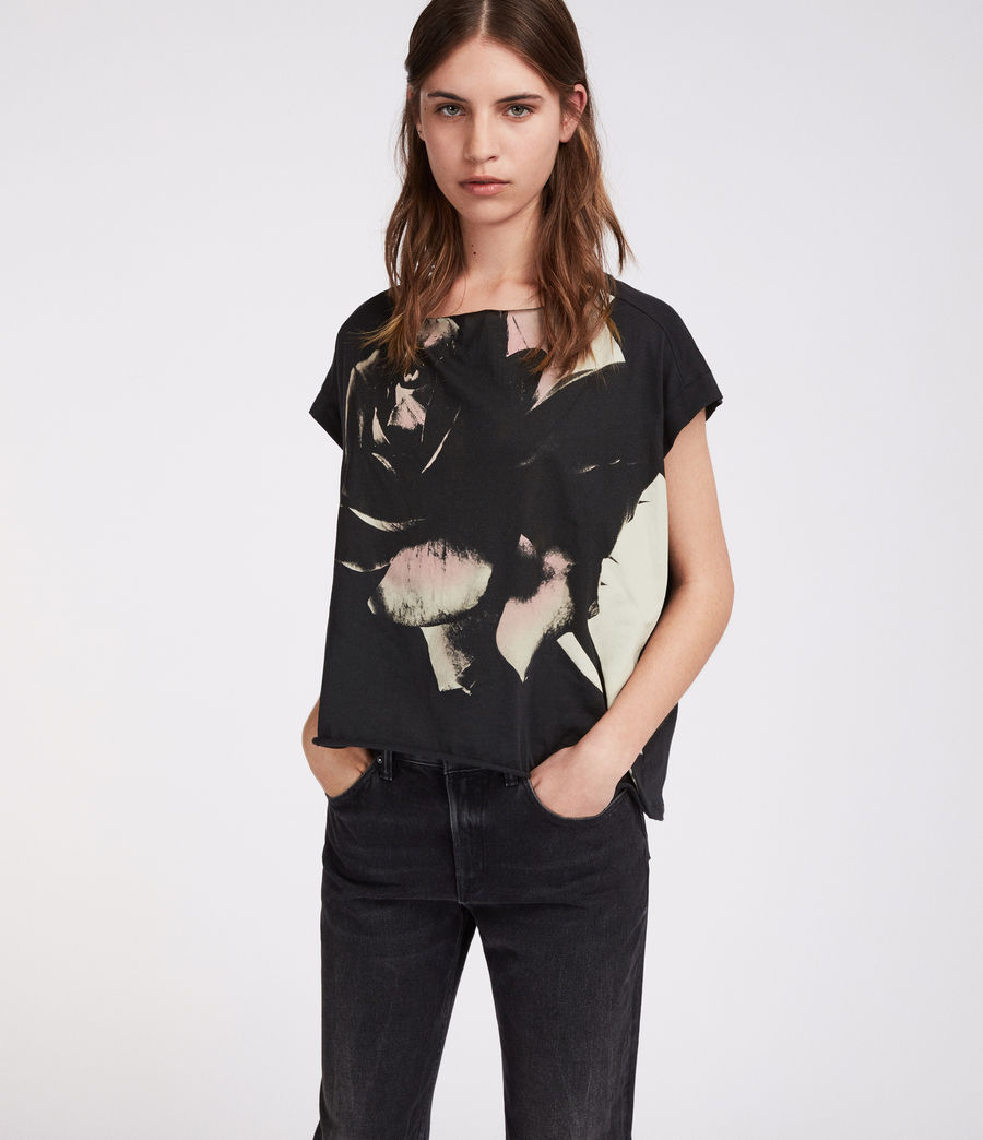 Damen Rosalita Pina T-Shirt (black) - Image 2