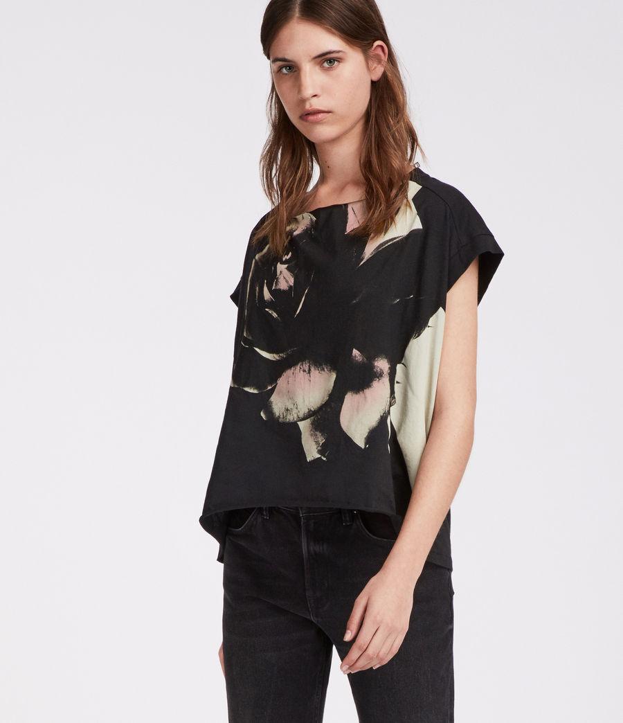 Damen Rosalita Pina T-Shirt (black) - Image 3