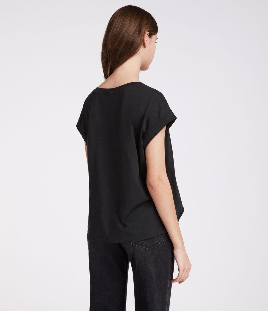 Damen Rosalita Pina T-Shirt (black) - Image 4