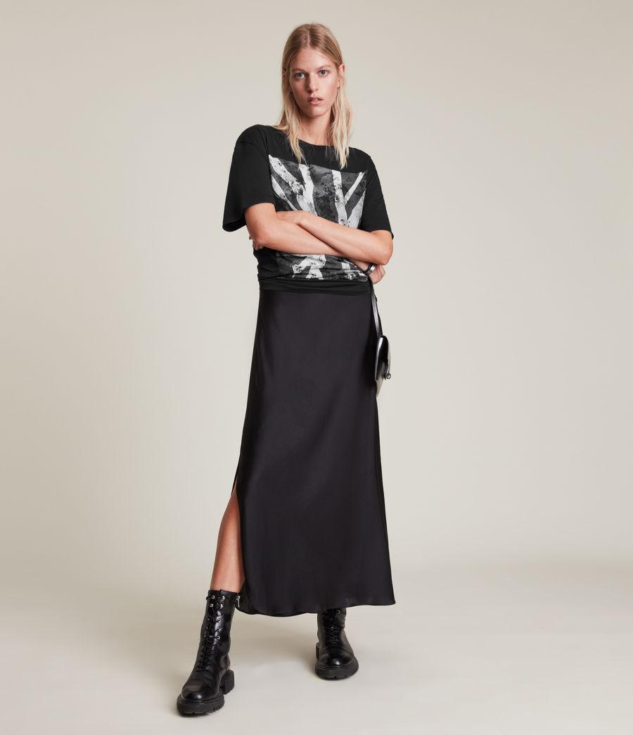 Women's Vexillum Boyfriend T-Shirt (black) - Image 1