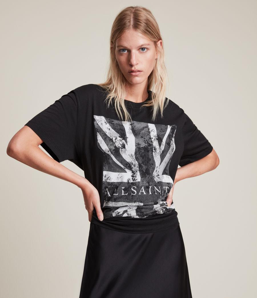 Women's Vexillum Boyfriend T-Shirt (black) - Image 3