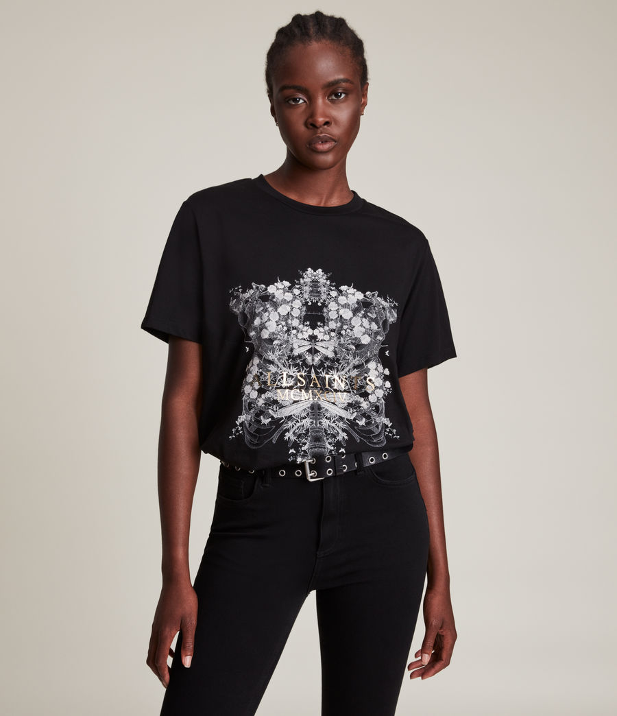 Femmes Vigeo Boyfriend T-Shirt (black) - Image 1