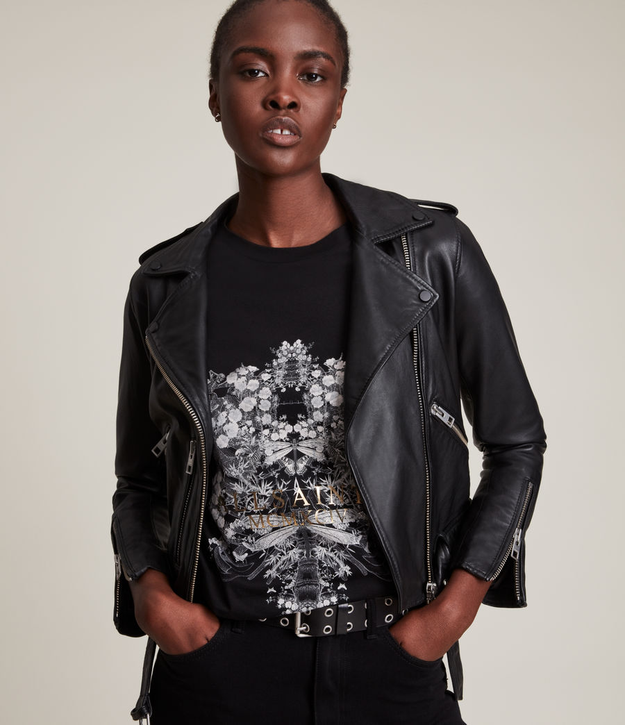 Femmes Vigeo Boyfriend T-Shirt (black) - Image 2