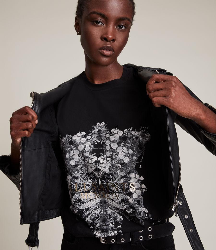 Femmes Vigeo Boyfriend T-Shirt (black) - Image 4