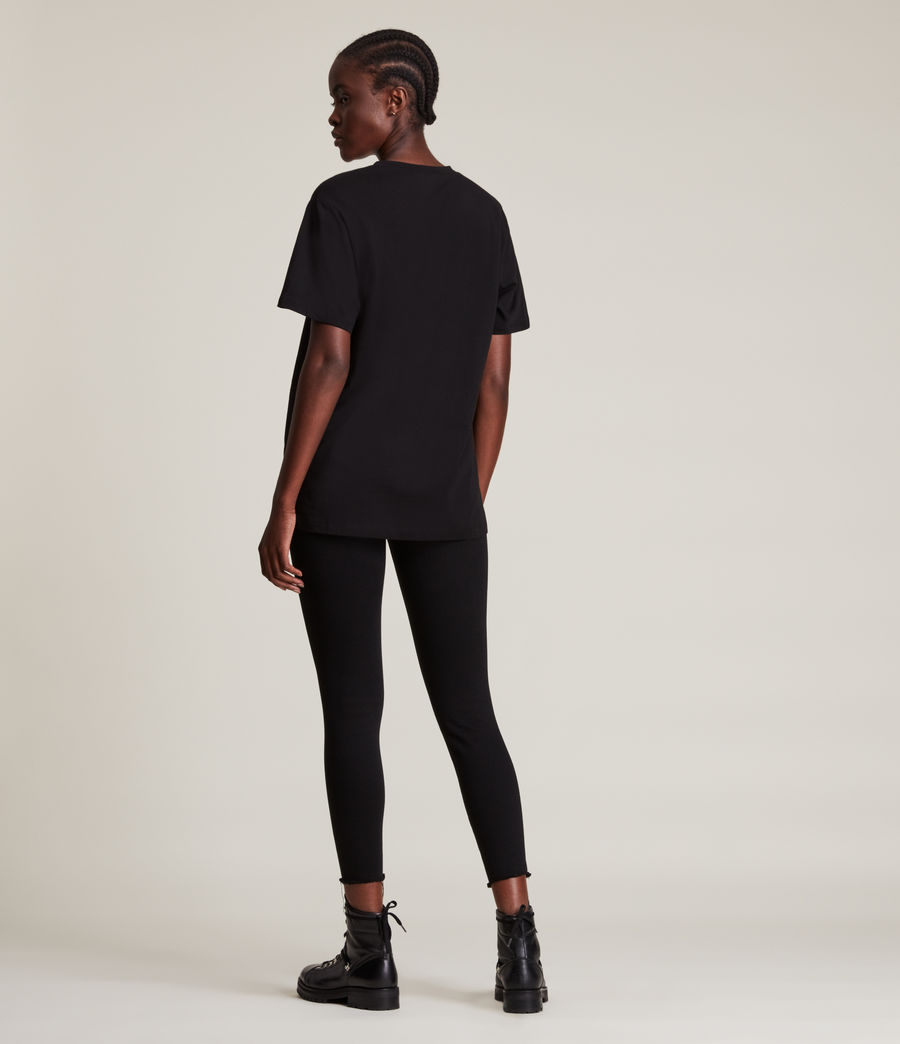 Femmes Vigeo Boyfriend T-Shirt (black) - Image 5