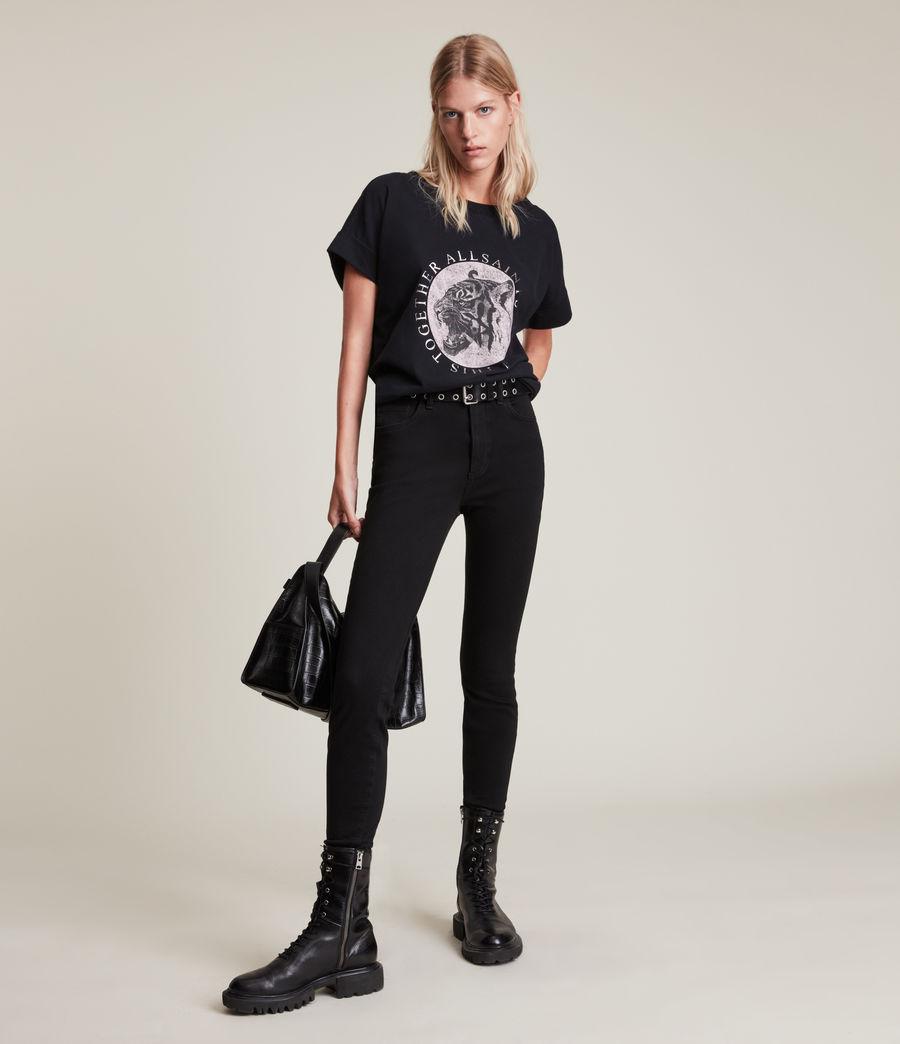 Women's Lia Imogen Boy T-Shirt (black) - Image 3