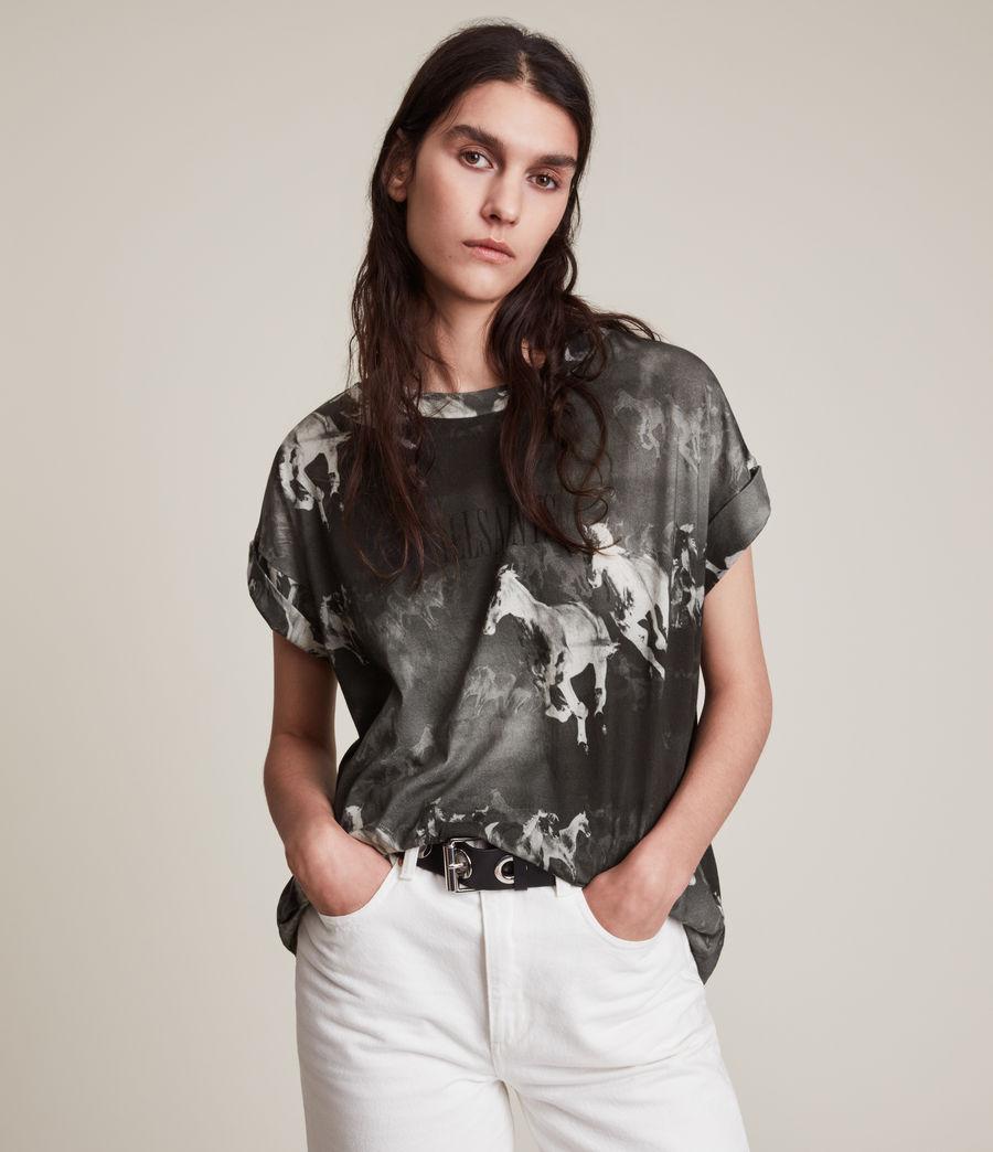 Women's Santo Imogen Boy T-Shirt (black) - Image 1