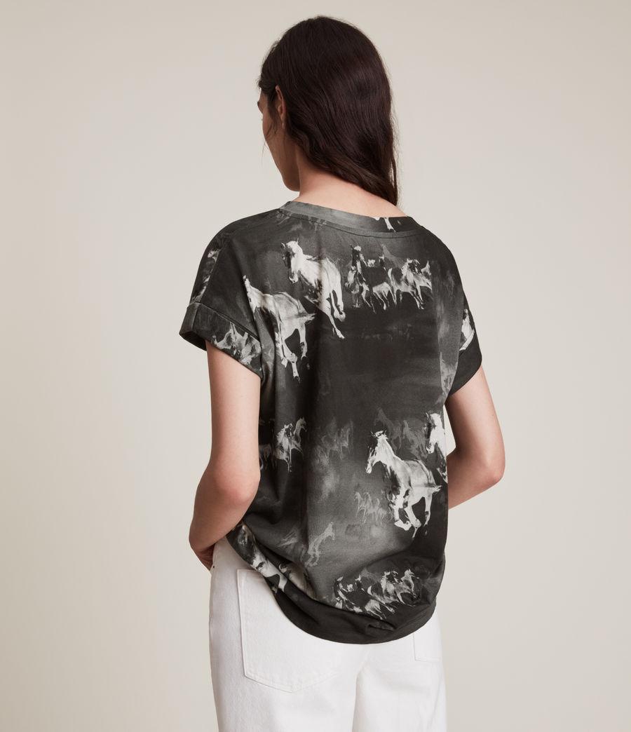Women's Santo Imogen Boy T-Shirt (black) - Image 5