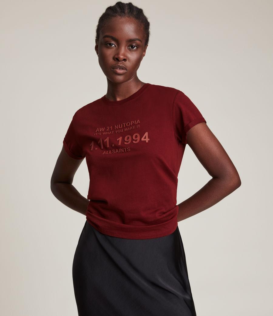 Women's Date Anna T-Shirt (liquid_red) - Image 2