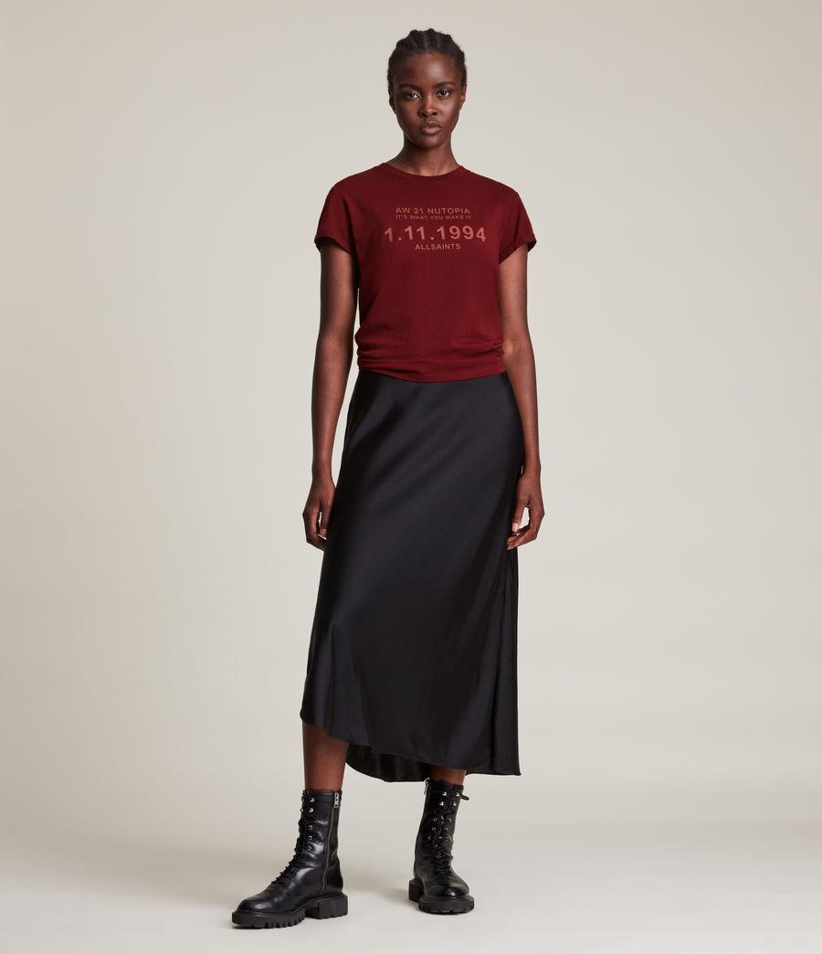 Women's Date Anna T-Shirt (liquid_red) - Image 3