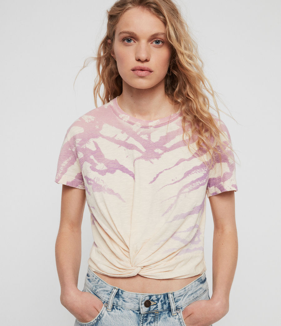 Womens Ombre Stripes Carme T-Shirt (washed_yellow) - Image 1
